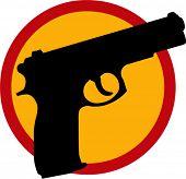 silhouette of gun