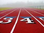 Foggy Running Track