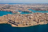 Malta Aerial View. Valetta, Capital City Of Malta, Grand Harbour, Senglea And Il-birgu Or Vittoriosa poster
