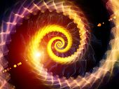 Swirling Spiral Background poster