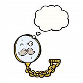 monocle with mustache cartoon