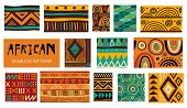 Seamless African Modern Art Patterns. Vector Collection poster