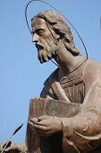 Monument to gospel authors.Kiev city