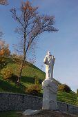 Monument to St. Andrew, Gospel author. Kiev city. Ukraine (Malorussia)