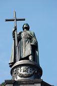 Monument to St. Vladimir. Baptiser of Russia. Kiev.Ukraine Made in 1853.
