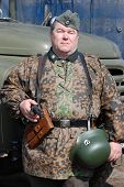 stock photo of vinnitsa  - Person in SS field uniform - JPG