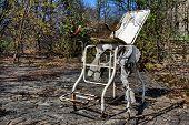 HDR.Hospital. Chernobyl area. Lost city Pripyat. Modern ruins. Ukraine. Kiev region