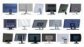 Monitor Set . Modern Monitors, Laptop. Office, Home, Computer Monitors Screen, Digital Display. Diff poster