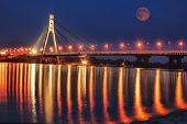 Bridge across the Dnepr river. Kiev, Ukraine