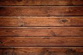 Dark Wood Texture Background. Tinted Wooden Surface With Natural Pattern With Vignette. Grunge Wallp poster