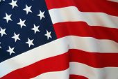 foto of waving american flag  - American flag background - JPG
