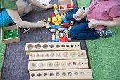Montessori Education. Montessori School. Learning Materials In A Montessori Methodology School. Geom poster