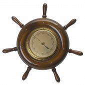 Ship Helms /steering Wheel  Barometer