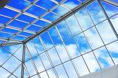 Blue Sky Through Ceiling