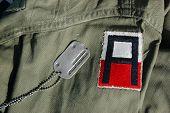 US uniform and dog tag