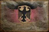 Deutsche Flagge mit Wappen (Bundesdienstflagge) .grange