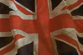 British Flag background.Grange