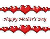 Mother'S Day Greeting With Hearts