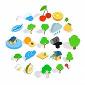 Pure Land Icons Set. Isometric Set Of 25 Pure Land Icons For Web Isolated On White Background poster