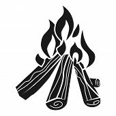 Bonfire Icon. Simple Illustration Of Bonfire Vector Icon For Web Design Isolated On White Background poster