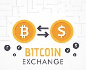 Bit-coin To Dollar Currency Exchange poster