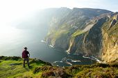 Slieve League, Irelands Highest Sea Cliffs, Located In South West Donegal Along This Magnificent Cos poster