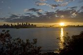 Sydney City Harbour Sunset
