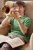 Playing The Trumpet At Home
