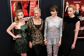 NEW YORK-NOV 18:  Scarlett Johansson, Helen Mirren, Jessica Biel and Toni Collette attend the premiere of