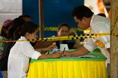 KO CHANG, THAILAND - NOVEMBER 18: Unidentified participants at local Ko Chang Elections, November 18