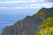 Cliffs On The Na Pali Coast Of Kauai Hawaii