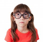 Little Girl In Round Spectacles