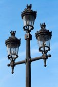 Street Lamp In Barcelona, Spain