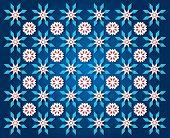 Darkblue Snowflake Background