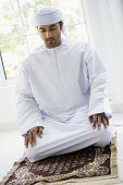 Middle Eastern Man Ready For Prayer