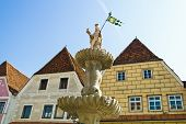 the fountain at the launch site in steyr, upper austria, austria