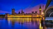 River Thames by night Houses of parliament