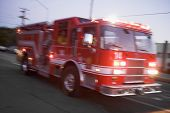 foto of fire truck  - Fire engine on street  - JPG
