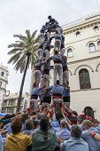 Castellers, Girls And Drop-tower