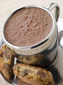 Hot Chocolate Florentine With Chocolate Cantuccini Biscotti