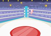Boxing Ring. Cartoon Background. Vector Illustration EPS 10.
