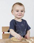 Child Making Cookies