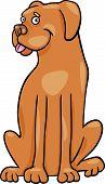 Ilustración de dibujos animados de perro Boxer