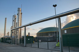 image of biogas  - Photo of a part of a biogas plant - JPG