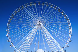 foto of ferris-wheel  - Fairground attraction in Paris - JPG
