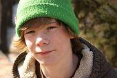 Teen Boy Outside