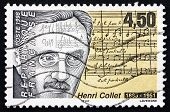 Postage Stamp France 1998 Henri Collet, French Composer
