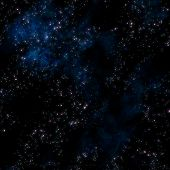 picture of starry night  - image of stars and nebula clouds in deep space - JPG
