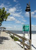 Beach, Pier, Ocean, Welcome, Sanibel Island, Florida, Lamp