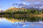 stock photo of mola  - Molas lake and Needle mountains - JPG